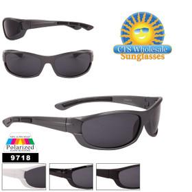 Polarized Sport Sunglasses in Bulk - Style #9718 (Assorted Colors) (12 pcs.)