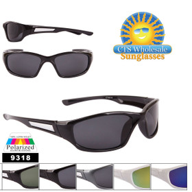 Bulk Polarized Lens Sunglasses - Style #9318 (Assorted Colors) (12 pcs.)