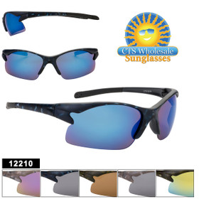 Bulk Camouflage Sport Sunglasses - Style #12210 (Assorted Colors) (12 pcs.)