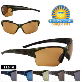 Camouflage Sport Sunglasses Wholesale- Style #12010 (Assorted Colors) (12 pcs.)