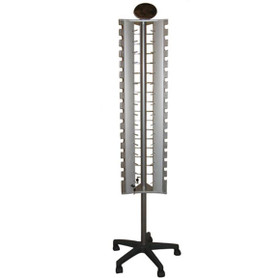 Floor Model Rotating & Locking Sunglass Display rack (holds 48 pair silver in color) 7046 (1 pc.)