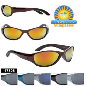 Bulk Sports Sunglasses - Style #17808 (Assorted Colors) (12 pcs.)