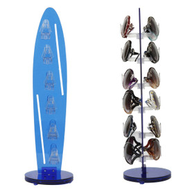 Acrylic Counter Top Rotating Sunglass Display Rack (holds 12 pair) 7036 Blue (1 pc.)