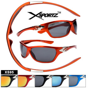 Xsportz™ XS95 Sunglasses with Flames (Assorted Colors) (12 pcs.)