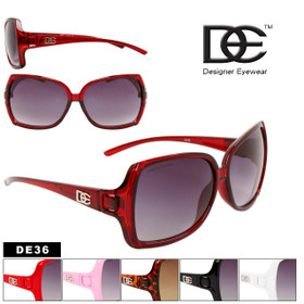 Women's Vintage Sunglasses DE36 Designer Eyewear™ (Assorted Colors) (12 pcs.)