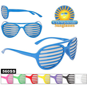 Mirrored Shutter Shades 560SS (Assorted Colors) (12 pcs.)