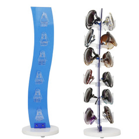 Acrylic Counter Top Rotating Sunglass Display Rack 7047 Blue (holds 12 pair) (1 pc.)