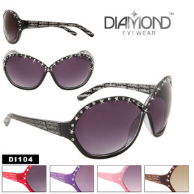 Ladies Fashion Sunglasses DI104 Diamond Eyewear™ (Assorted Colors) (12 pcs.)