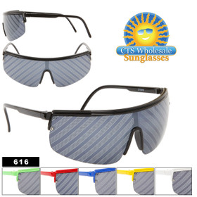 Wholesale Sunglasses 616 Whacky Striped Lens! (Assorted Colors) (12 pcs.)