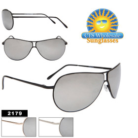 Mirrored Aviators 2179 Metal Frames with Spring Hinges! (Assorted Colors) (12 pcs.)