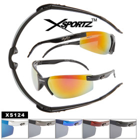 Wholesale Sports Sunglasses XS124 Xsportz™(Assorted Colors) (12 pcs.)