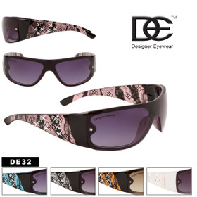 Bulk Women's Rhinestone Sunglasses - Style #DE32 (Assorted Colors) (12 pcs.)