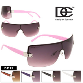 Wholesale Fashion Sunglasses DE12 Designer Eyewear™ (Assorted Colors) (12 pcs.)