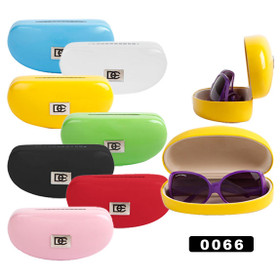 Sunglass Hard Cases by DE™~ Assorted Colors 0066 (12 pcs.)