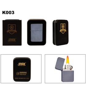 Dark Metallic Silver Lighter & Lighter Tin K003