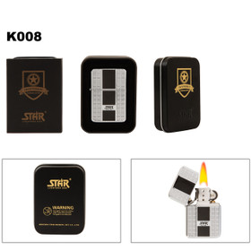 Brass Lighter ~ Lighter Fluid NOT Included K008 (1 pc.) Star® Lighter