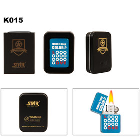 """Brass Lighter ~ Lighter Fluid NOT Included K015 (1 pc.) """"What Color Is Your Love?"""""""