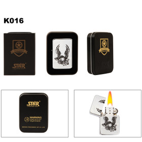 Liberty & Bald Eagle Brass Lighter K016