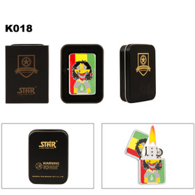 "Wholesale Brass Lighter ~ Lighter Fluid NOT Included K018 (1 pc.) Joe ""Blunt"" & Pot Leaf T-Shirt"
