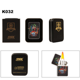 Evil Jack-In-The-Box Brass Lighter K032