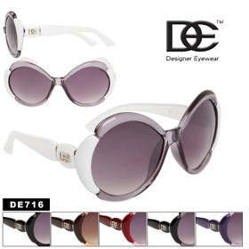 Designer Eyewear™ DE716  Wholesale Sunglasses (Assorted Colors) (12 pcs.)