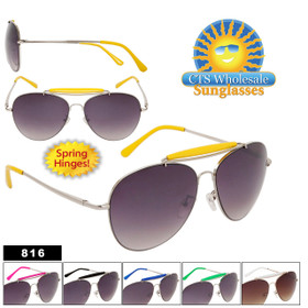 Wholesale Aviators 816 Spring Hinge! (Assorted Colors) (12 pcs.)