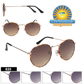 Wholesale Sunglasses 820 Metal Frames (Assorted Colors) (12 pcs.)