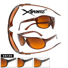 Xsportz™ Sunglasses XS126  Blocks Blue Light!  (Assorted Colors) (12 pcs.)