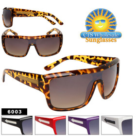 Single Piece Lens Unisex Sunglasses 6003