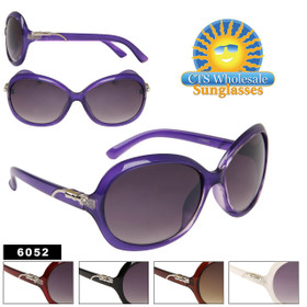 Wholesale Fashion Sunglasses 6052 With Rhinestones! (Assorted Colors) (12 pcs.)