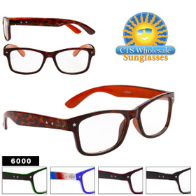 Wholesale Nerd Glasses - 6000 (Assorted Colors) (12 pcs.)