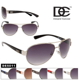 Bulk DE™ Designer Eyewear Aviators - Style #DE5011 (Assorted Colors) (12 pcs.)