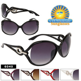 Designer Sunglasses 6040 (Assorted Colors) (12 pcs.)