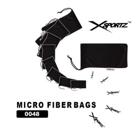 Xsportz Micro Fiber Bags ~ Great for storing & cleaning sunglasses! 0048 (12 pcs.)