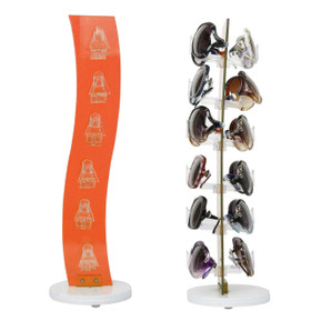 Acrylic Counter Top Rotating Sunglass Display Rack 7047 Orange (holds 12 pair) (1 pc.)