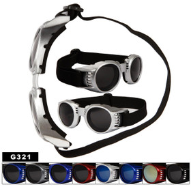 Goggles Style Foam Padded Inside G321 (Assorted Colors) (12 pcs.)