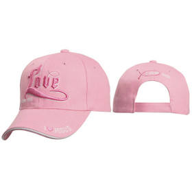 Christian Baseball Caps Wholesale ~ Love 1 Cor. 13:13 ~ Pink