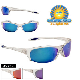 Wholesale Clear Frame Sunglasses 30917 (Assorted Colors) (12 pcs.)
