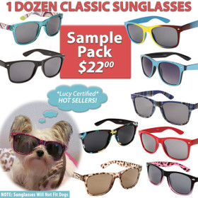 California Classics Sunglasses Sample Pack SPWAY 12 Assorted California Classics Sunglasses (Assorted Colors) (12 pcs.)
