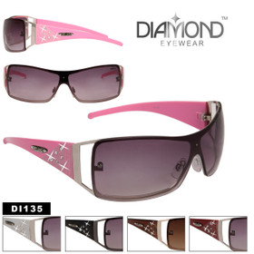Women's Rhinestone Sunglasses DI135 Diamond™ Eyewear (Assorted Colors) (12 pcs.)