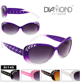 Diamond™ Eyewear  DI140 Exceptional Rhinestone Sunglasses (Assorted Colors) (12 pcs.)