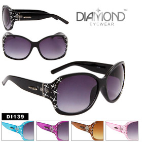 Diamond™ Eyewear DI139 Rhinestone Sunglasses (Assorted Colors) (12 pcs.)