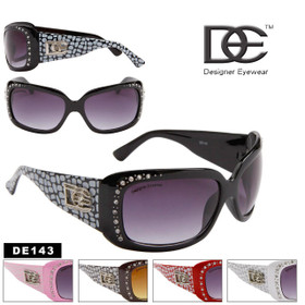 Designer Eyewear DE143 Designer Wholesale Sunglasses (Assorted Colors) (12 pcs.)