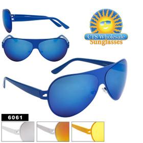 Aviators - Wholesale Sunglasses - Style # 6061 (Assorted Colors) (12 pcs.)