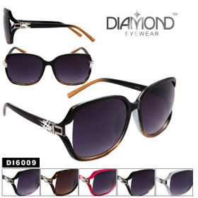 Diamond™ Rhinestone Sunglasses Wholesale - Style # DI6009 (Assorted Colors) (12 pcs.)