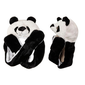 Panda Bear Animal Hat with Paws A113 (1 pc.)