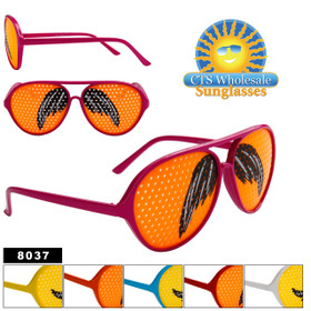 Mustache Sunglasses Wholesale - Style # 8037 (Assorted Colors) (12 pcs.)