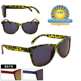 Wholesale Sunglasses - Style # 8079 (Assorted Colors) (12 pcs.)