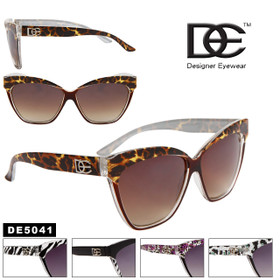 DE™ Cat Eye Sunglasses- Style #DE5041 Animal Print (Assorted Colors) (12 pcs.)