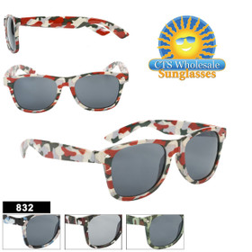 California Classics Wholesale Sunglasses - Style # 832 Camouflage (Assorted Colors) (12 pcs.)